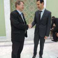 Jaromír Kohlíček s Bašárem Assadem, prezidentem Sýrie