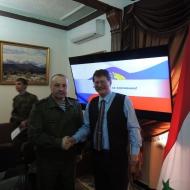 Jaromír Kohlíček se rovněž setkal s velitelem základny letectva Ruské federace generálem Kheimim