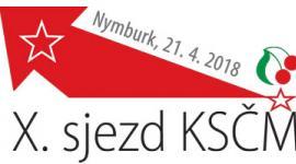 Logo X. sjezd ksčm Nymburk
